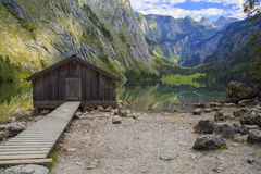 Konigssee, Germany. Wooden house in Konigssee, Germany stock images