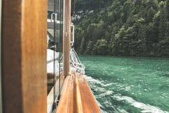 Konigssee jeziora Ferryboat Fotografia Royalty Free