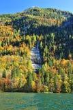 Konigssee lake in the autumn season Royalty Free Stock Photography