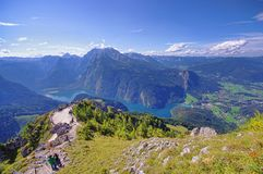 Konigssee lake in Germany Alps. Stock Photography