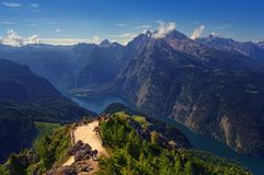 Konigssee lake in Germany Alps Royalty Free Stock Photo
