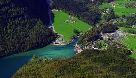Konigssee lake in Germany Alps Royalty Free Stock Images