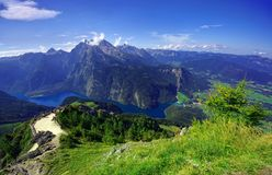Konigssee lake in Germany Alps. Stock Images
