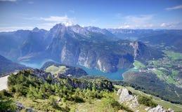 Konigssee lake i Tyskland royaltyfri foto