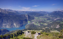 Konigssee lake view Royalty Free Stock Photos