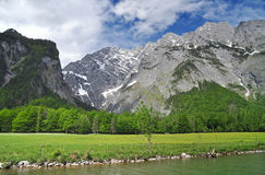 Konigssee and Watzmann Royalty Free Stock Photography
