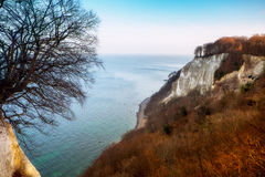 Konigsstuhl cliff on Rugen island. Germany. royalty free stock photo