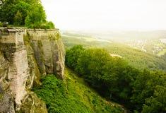 Konigstein forteca w jesieni Fotografia Royalty Free
