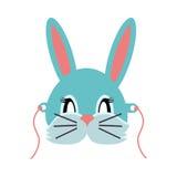 Konijn Dierlijk Carnaval Grey Small Bunny Hare stock illustratie