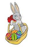 konijn in een mand Royalty-vrije Stock Afbeeldingen