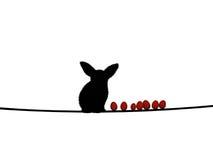 Konijn en Eieren vector illustratie