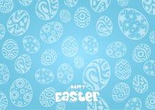 Konijn en eieren in Pasen-dag Bunny Ears-achtergrond stock illustratie
