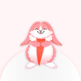 Konijnbeeldverhaal die een wortel eten Grappig Konijntje Leuke hazen Vector illustratie Royalty-vrije Stock Afbeeldingen