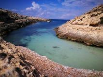 Konijneiland op Lampedusa, Sicilië Royalty-vrije Stock Afbeelding