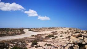 Konijneiland op Lampedusa, Sicilië Stock Afbeeldingen