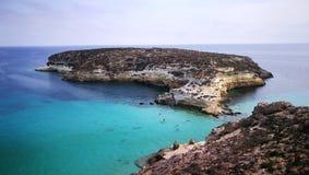 Konijneiland op Lampedusa, Sicilië Royalty-vrije Stock Foto