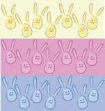 Konijnen in de vorm van eieren, konijntjes 3 - 's-kleuren stock illustratie