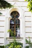 Konin, Poland. Historic synagogue of small Polish town called Konin. . Greater Poland province. Konin, Poland - July 22, 2017: View on detail of synagogue small Royalty Free Stock Photos