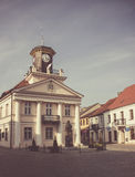 Konin, Poland. Historic town hall. Greater Poland province. Konin, Poland - July 22, 2017: View on historic town hall of small Polish town called Konin. Greater stock photography