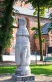 Konin Polen Den äldsta polen - vägmärke i Polen Större Polen landskap Arkivfoton