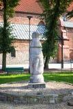 Konin, Pologne Le poteau le plus ancien - panneau routier en Pologne Une plus grande province de la Pologne image stock