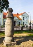 Konin, Pologne Le poteau le plus ancien - panneau routier en Pologne Une plus grande province de la Pologne photographie stock