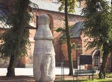 Konin, Polonia Il più vecchio palo - segnale dentro la Polonia Voivodato della Grande Polonia fotografie stock libere da diritti