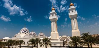 Koning Abdullah Grand Mosque, Koning Abdullah University van Wetenschap en Technologie, Thuwal, Saudi-Arabië royalty-vrije stock fotografie