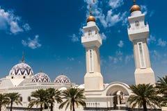 Koning Abdullah Grand Mosque, Koning Abdullah University van Wetenschap en Technologie, Thuwal, Saudi-Arabië stock foto's