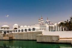 Koning Abdullah Grand Mosque, Koning Abdullah University van Wetenschap en Technologie, Thuwal, Saudi-Arabië royalty-vrije stock foto