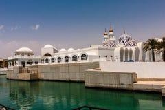 Koning Abdullah Grand Mosque, Koning Abdullah University van Wetenschap en Technologie, Thuwal, Saudi-Arabië stock afbeeldingen