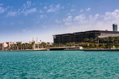 Koning Abdullah University van Wetenschap en Technologiecampus, Thuwal, Saudi-Arabië stock afbeeldingen