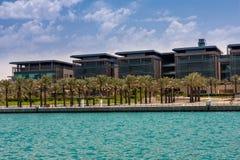 Koning Abdullah University van Wetenschap en Technologiecampus, Thuwal, Saudi-Arabië stock afbeelding