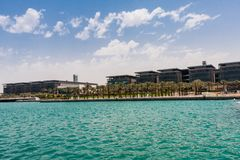 Koning Abdullah University van Wetenschap en Technologiecampus, Thuwal, Saudi-Arabië royalty-vrije stock afbeelding