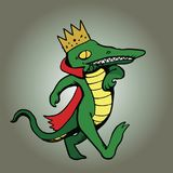 Koning Alligator Strolling op Achtergrond Royalty-vrije Stock Fotografie