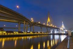 Koning Bhumibhol Bridge Stock Foto