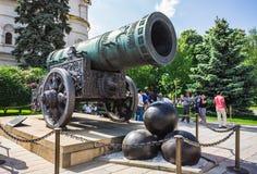 Koning Cannon in Moskou het Kremlin Stock Afbeeldingen