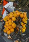 Koning Coconut Vendor, Sri Lanka Royalty-vrije Stock Afbeelding