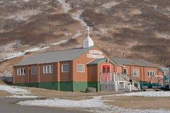 Koning Cove Bible Chapel Alaska royalty-vrije stock afbeeldingen