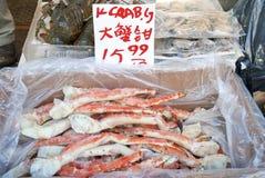 Koning Crab Legs Royalty-vrije Stock Foto