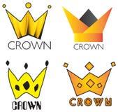 Koning Crown Elements Logo Set Stock Fotografie