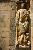 Koning David. Detail van Kathedraal Stock Afbeelding