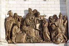Koning David en jonge Solomon royalty-vrije stock afbeelding