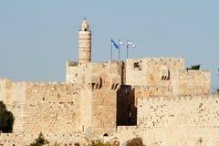 Koning David Tower, Jeruzalem, Israël stock foto