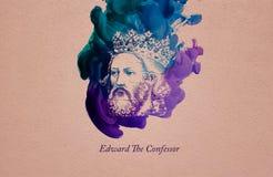 Koning Edward Confessor royalty-vrije illustratie
