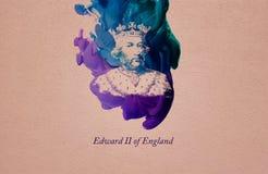 Koning Edward II van Engeland stock illustratie
