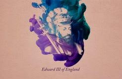 Koning Edward III van Engeland vector illustratie