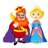 Koning en Koningin Royalty-vrije Stock Afbeelding