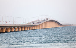 Koning Fahd Causeway in Bahrein royalty-vrije stock afbeelding