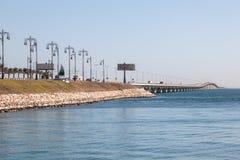 Koning Fahd Causeway in Bahrein stock foto's